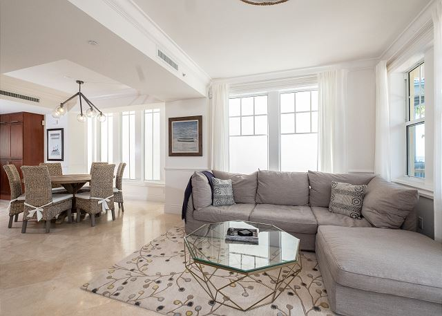 Residence #3822 - Living Room with Private Terrace overlooking Pool