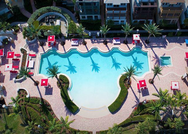 Marlin Bay Resort & Marina - Aerial View of Pool Deck & Rental Homes