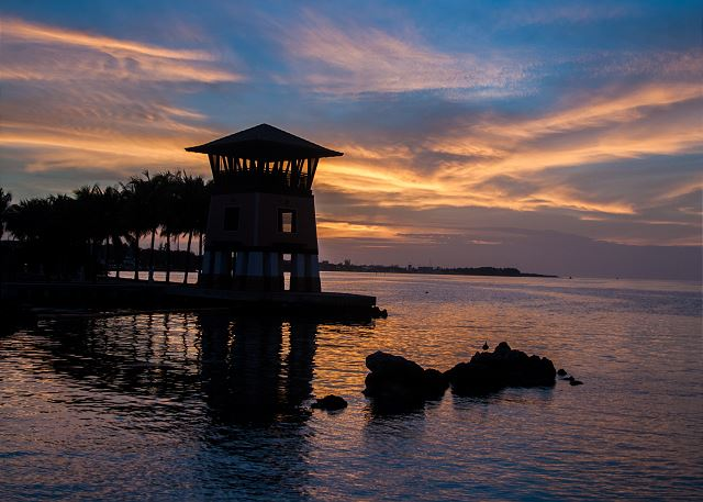 Marina Views - Sunset Tower at Twilight
