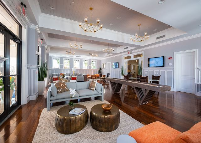 The Clubhouse - Main Level Lounge & Game Room featuring Shuffleboard