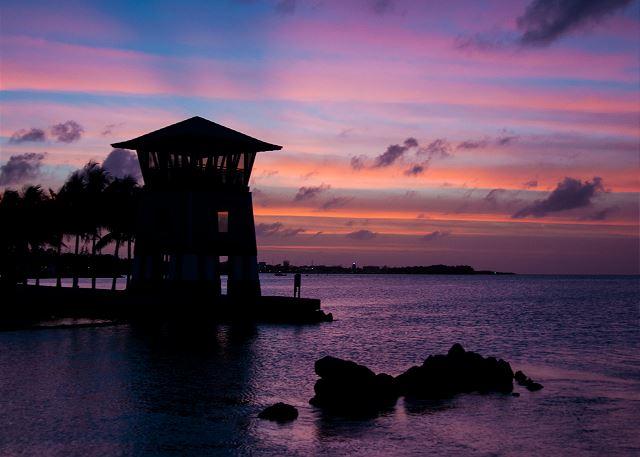 Marina - Sunset Tower at Twilight