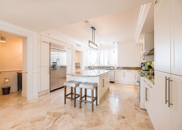 Residence #3824 - Spacious Kitchen with Adjoining Laundry Room & Half Bathroom