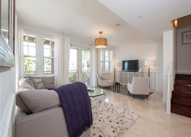 Residence #3826 - Living Room with Entertainment Area & Private Terrace