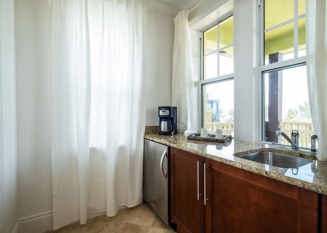 Residence #3828 - Wet Bar in Master Bedroom