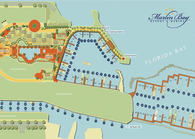 Marlin Bay Resort & Marina - Property Map