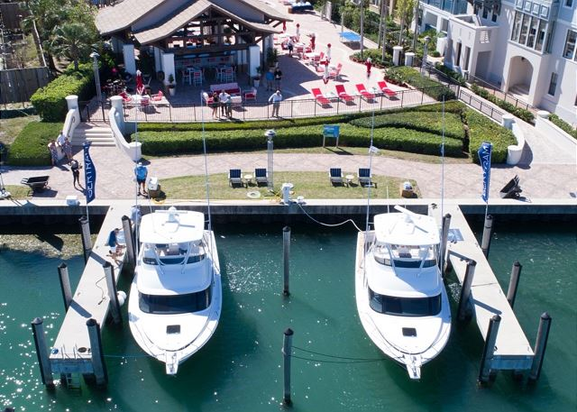 Marina Aerial Views - Slips with Fully Powered Concrete Docks