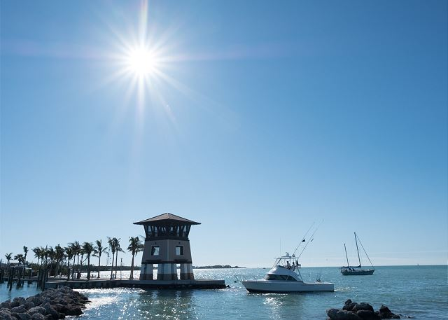 Entrance to Marina - Marked by our iconic Sunset Tower
