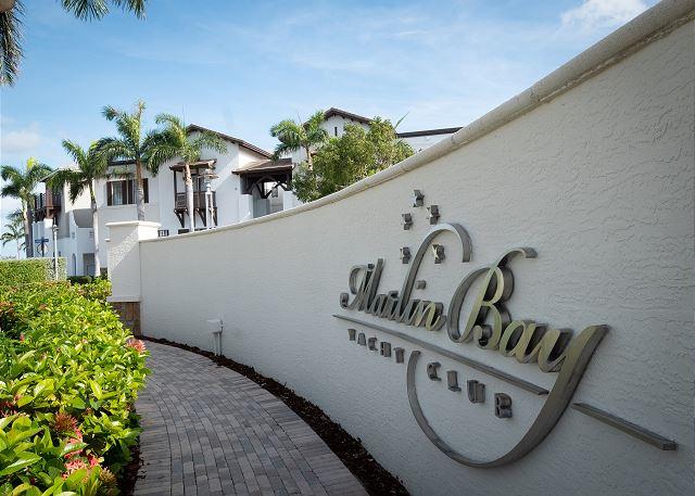Entrance to Marlin Bay Resort & Marina