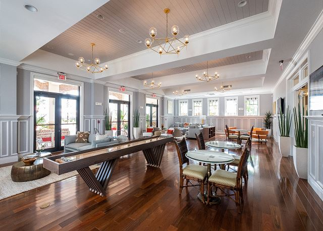 The Clubhouse - Main Level Lounge and Game Room. Featuring Shuffleboard