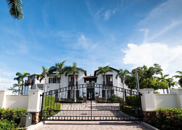 Gated Entrance to Marlin Bay Resort & Marina