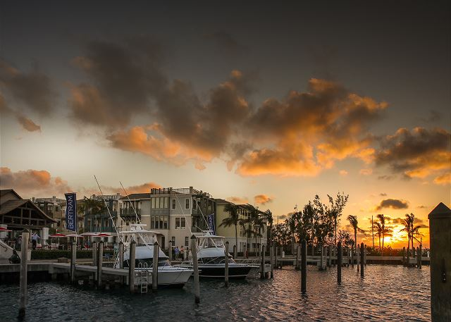 Marina Views at Sunset. Residence #3820 is the front corner home.