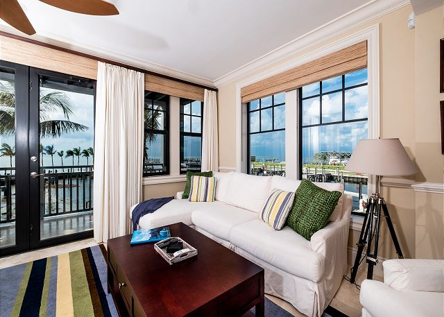 Residence #3820 - Sitting Space with Private Terrace overlooking The Marina