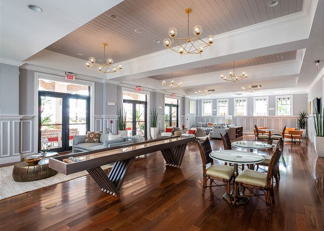 The Clubhouse - Main Level Lounge & Game Room. Featuring Shuffleboard
