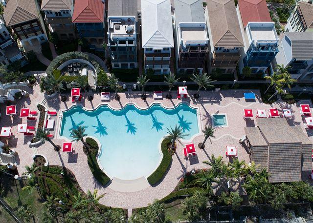 Marlin Bay Resort & Marina - Aerial Photo of Clubhouse, Pool Deck & Rental Homes
