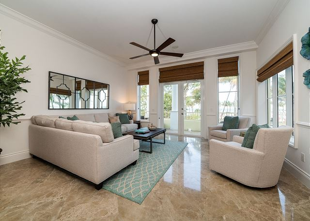 Residence #3840 - Living Room with Private Terrace & Sleeper Sofa
