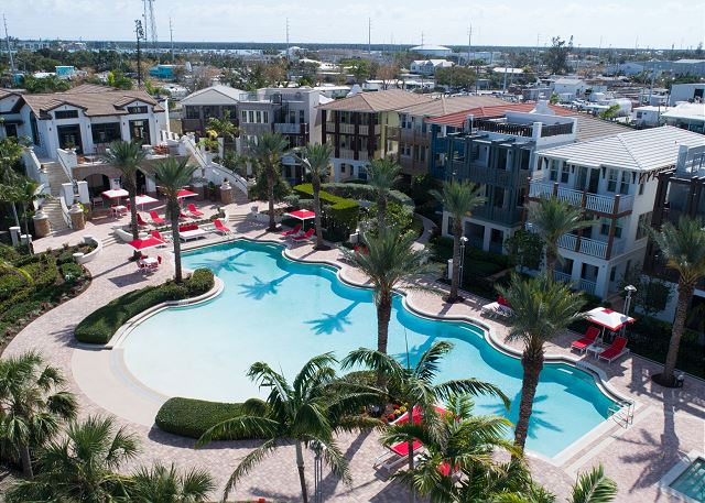 Marlin Bay Resort & Marina - Aerial View of Pool Deck, Clubhouse & Rental Homes