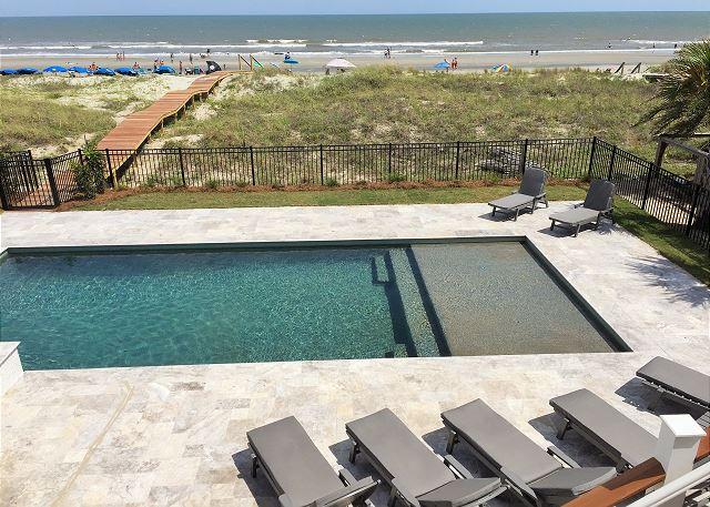 Ocean Front Pool Area