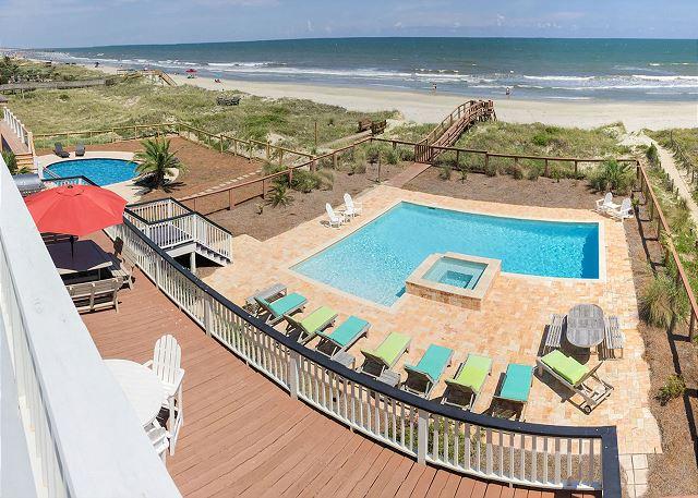Ocean Facing View of Pool & Beach