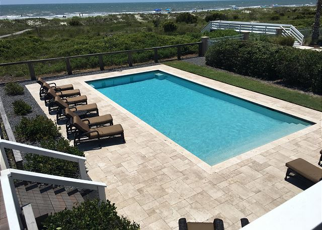 Pool and Ocean Views from Deck