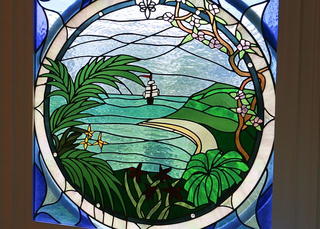 Master Bath Stained Glass Window