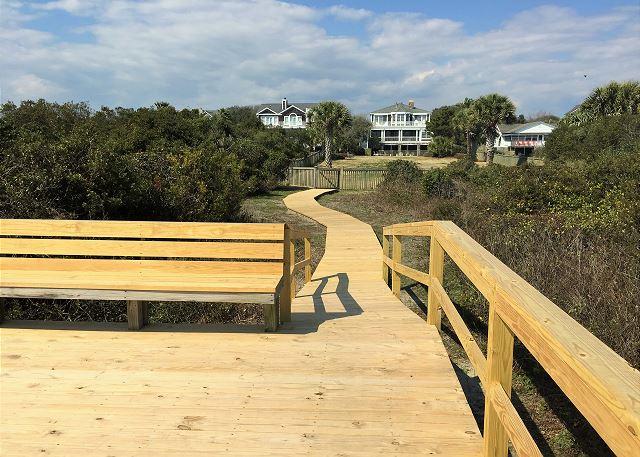 Sitting Area at Private Boardwalk