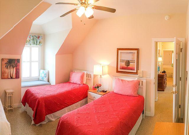 Second Floor Guest Room, 1 Double & 2 Twins