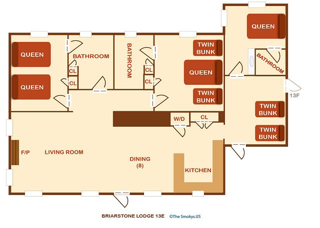 Floor plan of the condo.