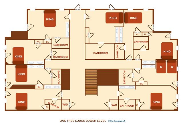 Floor plan of the lower level.