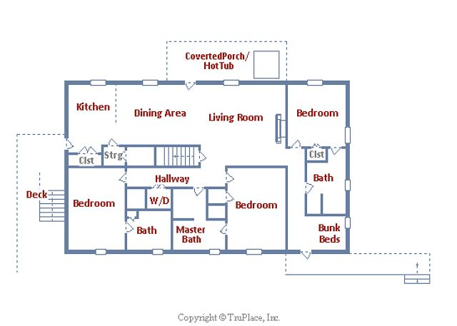 The floor plan of the unit.