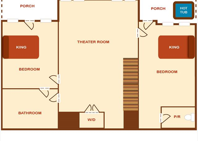 Lower level floor plan.