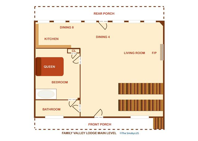 Main level floor plan.