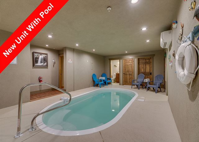 Indoor pool in the cabin.