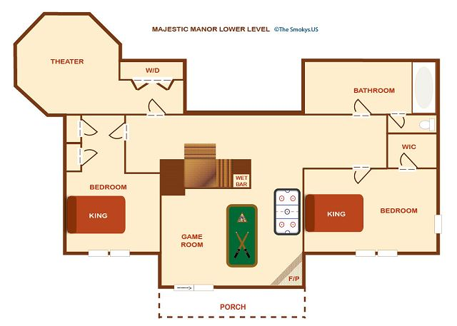 Floor Plan of the lower floor.