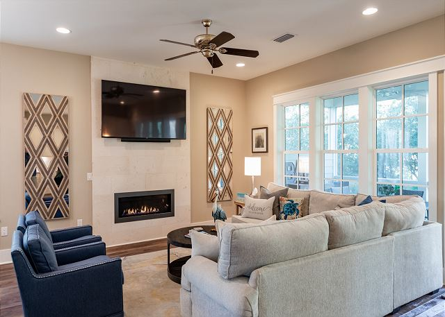 Living Area with Fire Place
