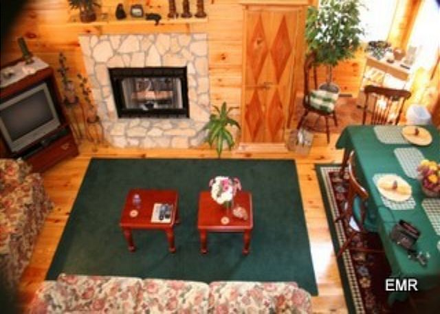 Plenty room for a family of four or a couple to enjoy the gas log fireplace for convenience