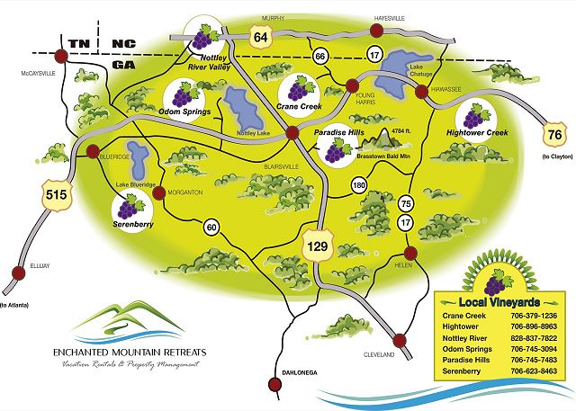 Enchanted Mountain Retreats Vineyards Route