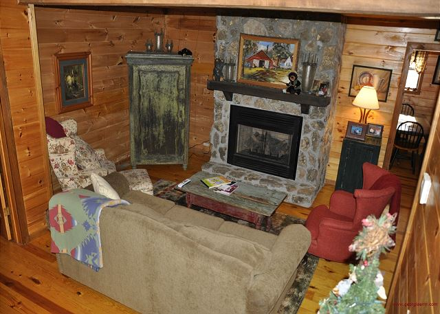 Living Area & Fire Place