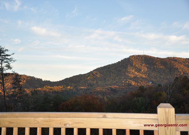 Magnificent mountain views to the Chattahoochee National Forest from back porch