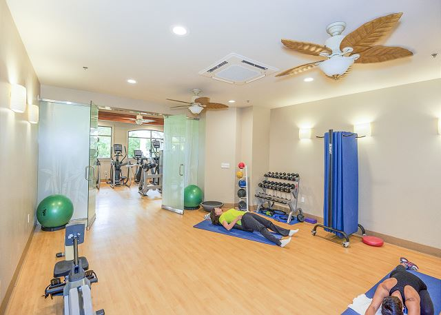 Gym also features a yoga studio
