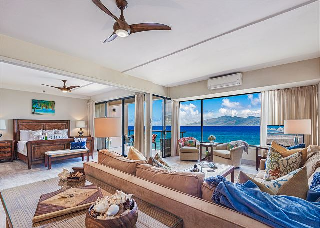 Sands of Kahana 282- Oceanfront 2 BD/2 BA Deluxe Penthouse