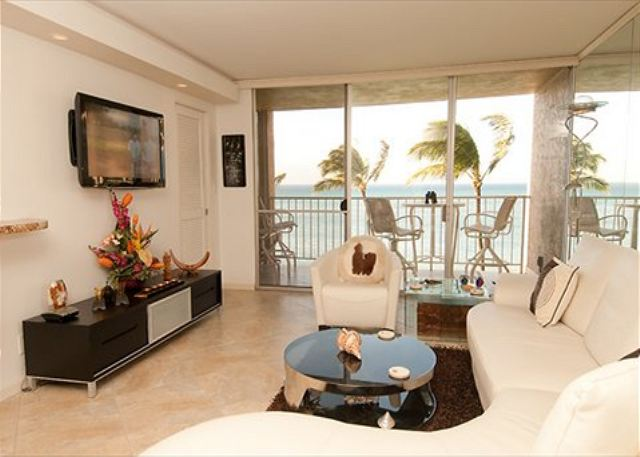 Living room with view of ocean!