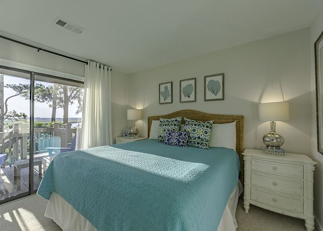 Master bedroom with great views and own back porch