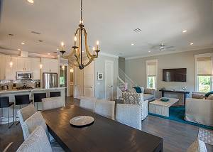 Open concept floor plan creates a relaxing and inviting atmosphere