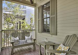 Comfortable seating on the front porch