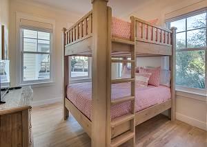 1st Floor Bunk Room with Queen over Queen bunk.