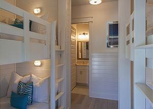 Additional shot of second bunk suite with Twin over Twin bunks
