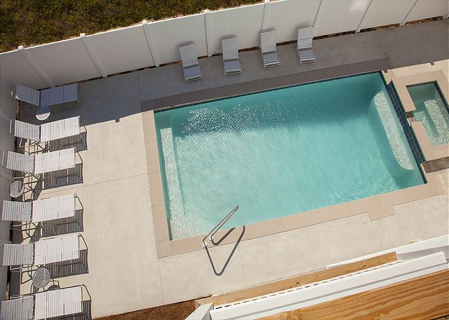 Private pool with whirlpool spa. Can be heated for an additional fee.