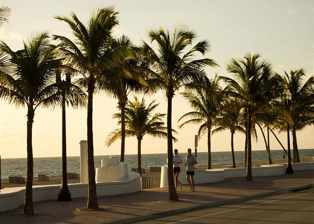Ft. Lauderdale Notary Beach At Night