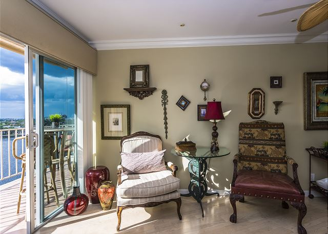 Living Room with Intracoastal Views!