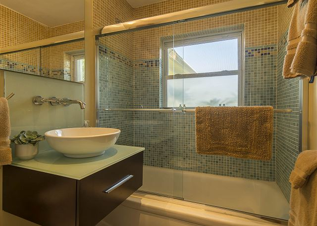 Guest Bath with Shower/Tub Combo!